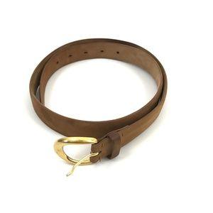 De Vecchi Hamilton Hodge Tan Belt Made in Italy 34